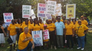 UFCW Local 1208 members joined other labor groups and community allies to participate in Moral Monday in support of protecting workers and speaking out for workers' rights.
