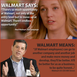 Walmart U.S. CEO, Bill Simon, recently  suggested that Walmart workers should look for jobs elsewhere if they want good wages and  access to better benefits.
