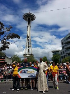 Members of UFCW Local 21 celebrate Pride in Seattle.