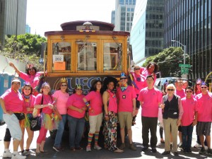 Members of UFCW Local 5 celebrate Pride in San Francisco.