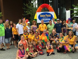 Members of UFCW Local 655 celebrate Pride in St. Louis.