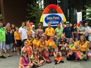 Members of UFCW Local 655 celebrate Pride in St. Louis.