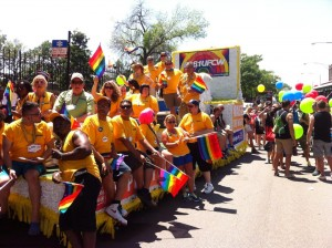 Members of Local 881 celebrate Pride in Chicago.