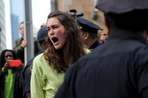 NY arrest shout