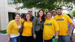 UFCW Kentucky member with candidate for Kentucky Senate Alison Lundergan Grimes