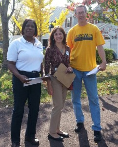Union members with Karen Chellew, Democratic candidate for PA State Representative