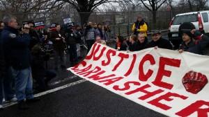 Carwash Protest Banner