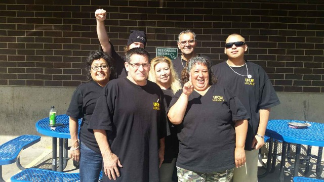 UFCW Local 7 Workers at Ledbetter Foods' Processing Meat