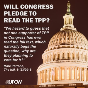 TPP Will Congress Pledge to Read_Dome Art