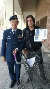 L371 leafleting w veteran