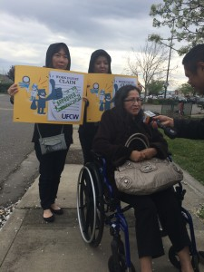 MCAW Press Conference Highlights Struggles of Injured Walmart Worker