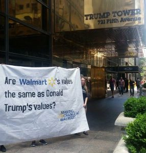 Walmart Protest at Trump Tower