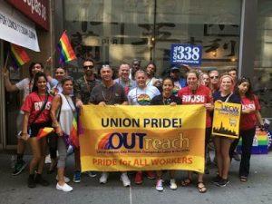 OUTreach members Pride Parade