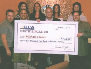 Local 2-D Donation to Michael's Cause