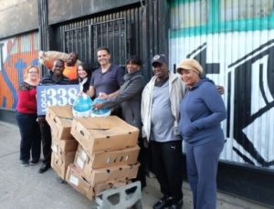 Local 338 members helped provide 250 turkeys for needy families throughout New York.