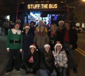 "Local 23 at their ""Stuff the Bus"" event"